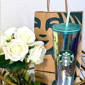 Starbucks Iridescent Aqua w/ Gold Siren Scale